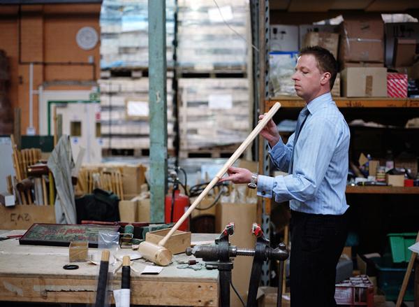 Joe in the workshop