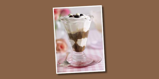 Coffee and Ice Cream Sundae