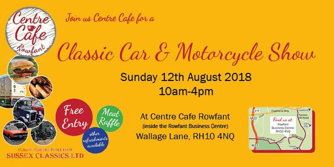 Rowfant Revs Up For Centre Café's Classic Car & Motorcycle Show