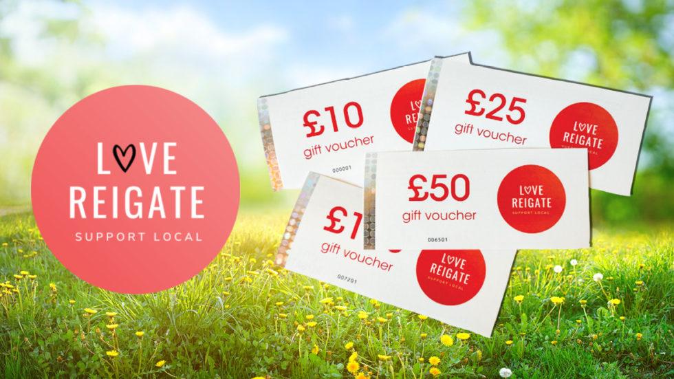 WIN £100 In Love Reigate Vouchers